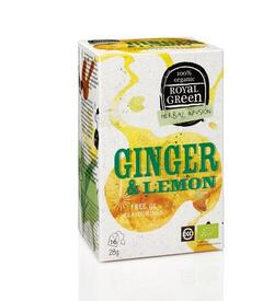 Royal Green - Ginger & Lemon Tea - Økologisk Ingefær og citron te