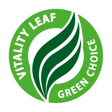 BioMio er certificeret med Vitality Leaf - Green Choise
