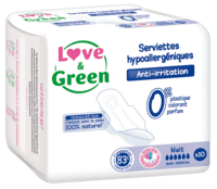 Love and Green - Miljøvenlige Hygiejnebind Night