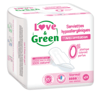 Love and Green - Miljøvenlige Hygiejnebind Normal
